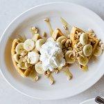 Peanut butter and Banana Waffle