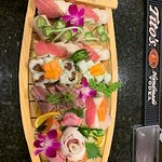 Our Gluten-Free Sushi Boat was so pretty and so yummy!