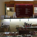 Menu and gelato counter