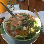 Tom yum soup from the cooking class