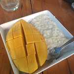 Mango sticky rice from cooking class