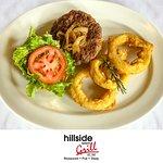 Hillside all beef burger