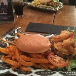 This is the Malibu surf and turf with sweet potato fries