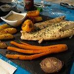 filet de poisson et ses legumes
