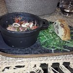 Salade de soupions et son cake aux champignons