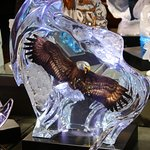 Glass eagle artwork