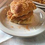 Sweet & Spicy chicken sandwich (on delicious biscuit)