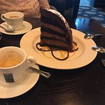 Chocolate Zuccotto Cake, P.S. good espresso.