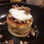 Pancakes bien épais avec une chantilly à base de mascarpone vraiment délicieuse !