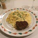 Fettuccini com conhaque flambado no Grana Padano