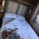 Double bedroom in caravan