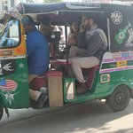 I booked this tuk tuk for all day sight seeing for them... To discover real Jaipur Where the drivers and guides don't want to go... Coz they are interested to take them in stores like jewelry and textile.....