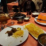 Mutton curry and Pilau rice