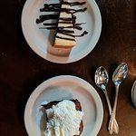 We had the cheesecake and brownie for dessert. They aren't huge portions, but I could hardly fin