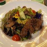 Amazing rib-eye salad