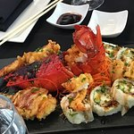 sushi and lobster