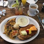The omelette and grits were amazing.