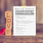 Menú especial día de los enamorados 14 al 17 febrero 2019. Vila de Muros.
