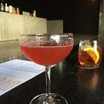 nice drink at the bar