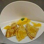 Crêpes Suzette et sorbet mandarine