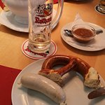 Weisswürste, Bier und Brezeln