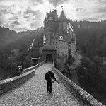 Me walking towards Burg Eltz...I always wanted a photo like that!!