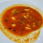 Aromatische und würzige Fischsuppe