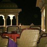 An evening rooftop dinner