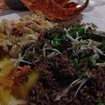 good seafood and black bean rice