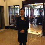 Hebe Zhang, guide for tour of Fairmont Peace