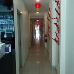 Corridor from reception to elevator.