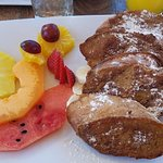French toast with fruit, tasteful presentation!