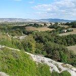 Widok na dolinę Val d'Orcia
