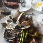 Round #2 - prime rib, oysters, steamed clams, roast pork, brussel sprouts