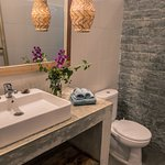 Ensuite bathroom with hot water in our Deluxe Queen Rooms and our Deluxe Share/Family Room.