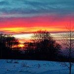Just a regular winter sunset near Momina Skala Hut.