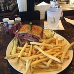The famous house made Reuben Pastrami Sandwich