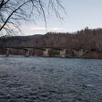 bridge over French Broad River taken from campgounds
