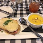 Croque Monsieur and Corn & Bacon Chowder Combo