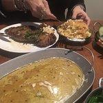 Butter Braised Rib-eye Steak and Corn Souflee