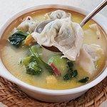 Stewed Chicken Soup with Dumplings Casserole