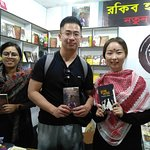 A couple from China is in Dhaka Book Fair.