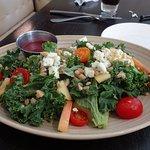 garden kale farro salad