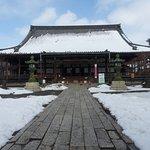 大通寺本堂雪景色