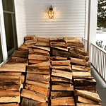 Wood stack to keep the fire burning!