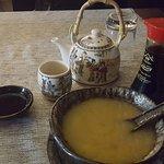 Zuppa di miso e the verde