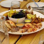 Our seafood platter at the 1802 Restaurant in Coffin Bay, Australia.