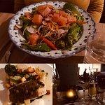 Salade de saumon confit et la prise du jour