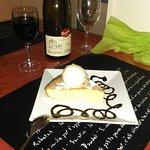 Gâteau portugais & sa boule de glace vanille