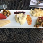 A small cheese plate at St. James. The brie was out of this world!